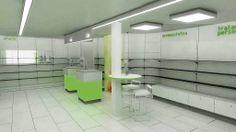 Ideas de #Tienda, estilo #Moderno color  #Verde,  #Gris,  #Gris, diseñado por AG Interiorismo  #CajonDeIdeas