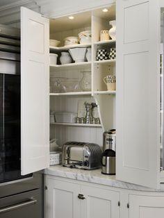 Suzie: St. Charles of New York - White shaker kitchen cabinets with beadboard backsplash, ...