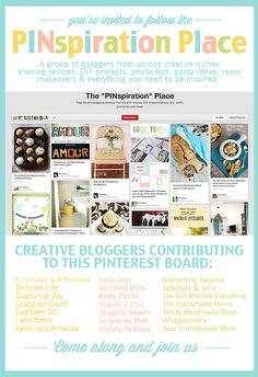 New Pinterest Board to Follow: The PINspiration Place