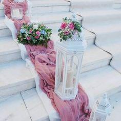 Church Wedding Decorations, Diy Party Decorations, Wedding Staircase, Wedding Events, Our Wedding, Wedding Color Combinations, Vintage Centerpieces, Small Space Interior Design, Dusty Rose Wedding