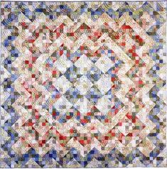 """Ontario Odyssey - The Creative Pattern Book. Designed and pieced by Judy Martin in 1977. Quilted by Jean Nolte in 1999. 96"""" x 96""""."""