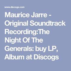 Maurice Jarre - Original Soundtrack Recording:The Night Of The Generals: buy LP, Album at Discogs