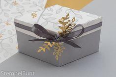 StempelBunt - Elegante Rauten-Schachtel Frühlingsglanz