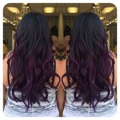purple balayage ombre - Google Search