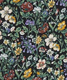 Liberty Fabrics' Rachel Meadow is lustrously detailed and rich in colour – printed here on textural 16 momme crepe de chine. Silk Satin Fabric, Silk Crepe, Liberty Fabric, Liberty Print, Pink Tone, Liberty Of London, Silk Scarves, Flower Power, Print Patterns