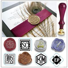 7a86d5cb4bd1c0 Duogram examples for wedding invitations Wax Seal Stamp