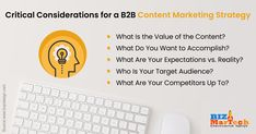 Critical Considerations for a B2B Content Marketing Strategy  #fromwhereistand #wahm #entrepreneur #smallbusiness #socialmedia #socialmediamarketing #network #networkmarketing #success #goals #beyourself #advertise #contentmarketing #Digitalmarketing #SEO #blogging #marketing #branding #marketingtips #marketingstrategy #startup #b2bmarketing
