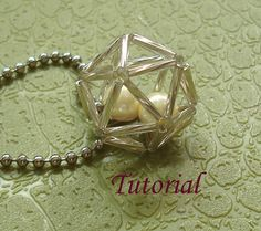 Beading Tutorial  Beaded Hollow Ball Pendant by Splendere on Etsy, $4.00