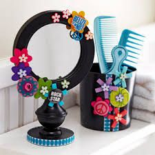 espejo y cuenco para guardar peines