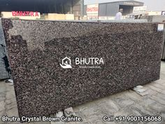 Crystal Brown Granite Is A Very Unique Quality Gray Granite In Many Different Sheds With Crystalline Brown Color Mineral. It Shows The Quality Of Natural Stones. Crystal Brown Granite Is Heat Resistant & Long Lasting Stone Because It Doesn't Looses Its Color And Shine. It Is Famous For Its Uniqueness And For Their Seamless Finish And Texture. It Is Perfect For Interior Wall And Floor Applications. We Are India's Leading Manufactures And Exporters Of Granite Products. We Offer A Wide Range Of… Brown Granite, Granite Tops, Granite Slab, Granite Suppliers, Marble Price, Black Indians, Italian Marble, Pure White, Sheds