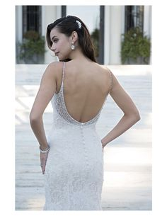 Check out the gorgeous beading on this dress! Available at Spotlight Formal Wear! #SpotlightBridal