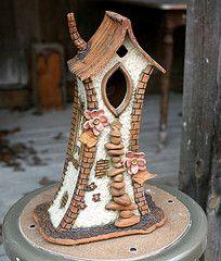Whimsical Handbuilt Clay Birhouses with Mark Wingertsahn at the John C. Campbell Folk School | folkschool.org