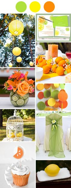 Citrus Colours - orange, lime and yellow wedding themed colors