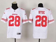 Nike 49ers  28 Carlos Hyde White Men s Stitched NFL Elite Jersey And  Broncos Emmanuel Sanders 0a1ae7953