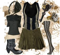 """Casual Steampunk~"" by sivyluv on Polyvore"