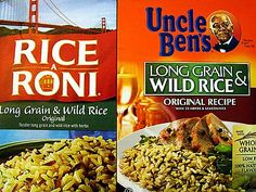 ... Homemade Rice-A-Roni and Uncle Ben's Long Grain & Wild Rice recipes