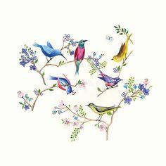 Bird Sculpture, Little Birds, Chinese Painting, Bird Art, Flower Tattoos, Beautiful Birds, Wall Murals, Watercolor Art, Photo Art