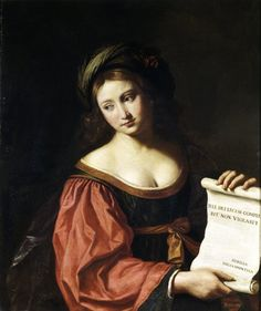 THE SYBIL HELLESPONTICA, attr Giovanni Francesco Barbieri, called II Guercino