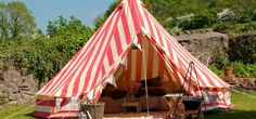The ultimate glamping tent Strawberries & Cream Bell Tent inspiredcamping.com