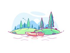 Lake designed by Sahil Sadigov. Connect with them on Dribbble; the global community for designers and creative professionals. Sketch Icon, Sketches, Game Design, Icon Design, Outline Illustration, Simple Icon, Material Design, Creative Art, Disney Characters