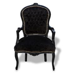 Black on Black Velvet Chair