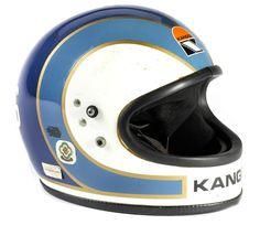 Stan Woods' Kangol road racing helmet Motorcycle Equipment, Motorcycle Helmets, Vintage Helmet, Helmet Paint, Custom Helmets, Racing Helmets, Full Face Helmets, Bike Wear, Cycling Helmet