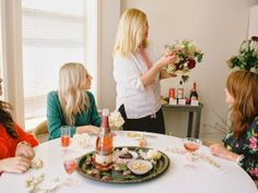 Rosé Tasting + Flower Arranging Party
