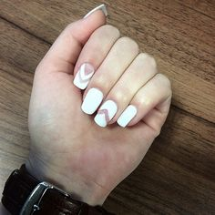 Spring 2015 nails, negative space & white