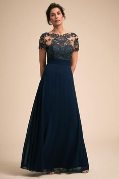 Rickie Freeman For Teri Jon Lace Chiffon Peplum Gown - ShopStyle Mother of the Bride' Dresses Mother Of Groom Dresses, Mothers Dresses, Mother Of The Bride, Mob Dresses, Bridal Dresses, Bridesmaid Dresses, Dresses Online, Peplum Gown, Anthropologie