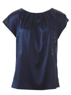 Pleat front, lace back dress