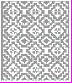 Filet Crochet Chart @Katie Schmeltzer Tocknell Pinkham maybe like this, but only one or two of the open diamonds wide.
