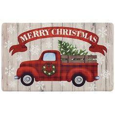 Dusted Tree Red Truck Cloustep Mat In Ivory/red - Refresh your table setting this holiday season with the Dusted Tree Red Truck Cloudstep Mat. Presenting a classic red truck and Christmas tree motif, this mat brings warmth to all who gather in your home during the festive season. - kitchen ideas
