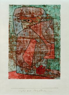 Paul Klee - 'Aegypterin' - (1940-55)