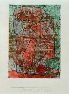 Image: Paul Klee - Aegypterin, 1940, 55 (X15),