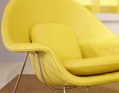 yellow womb chair...leather!