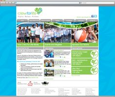 Crew For Life Website Design - To accompany the Crew For Life branding, a website design was needed to educate users on the Crew For Life program and its objective: fundraising for the Oncology Children's Foundation.