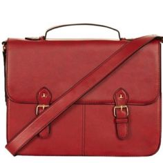 Topshop large red leather satchel Topshop large red leather satchel. Sold out everywhere. Large enough to fit a laptop along with other items. Brand new condition! Topshop Bags Satchels
