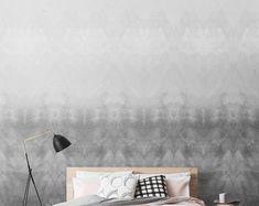 Ombre Removable Wallpaper / Monochrome Self Adhesive Wallpaper / Dark  Wall Mural / Watercolour Wall sticker- CM055