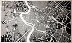 ROMA painting on canvas, acrylic, 260x180cm, © Pavel Filgas 2014 #roma #italy #bnw #abstract #malba #streets #architecturedrawing #canvas #acrylic #urbanism #bigsize #pavelfilgas #filgas #passion #love #art #ilustration #city #creative #graphic #city #design #perspektive #shadows #painting #abstraction #schema #citystructure #streetstructure #cityorganism Future City, Italy, Painting Canvas, Abstract, Shadows, Maps, Passion, Creative, Design