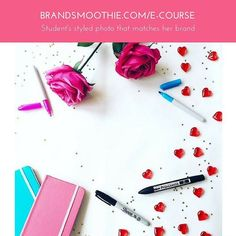 Here's a punchy and bright styled picture inspiration from my branded photo course student, Louise from Designsta. Since she started the course, Louise shared with us that she became a happy on-brand shopping fan, easily spotting gorgeous notebooks or flamingo stationery (one of her fav) matching her brand colour. That's not a surprise as I'm like that too mostly with cups.
