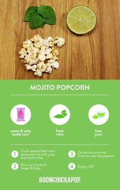 Ready-To-Eat Popcorn - Boomchickapop Healthy Popcorn, Popcorn Recipes, Sweets Recipes, Just Desserts, Delicious Desserts, Healthy Food, Healthy Eating, Healthy Recipes, Yummy Yummy