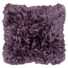 House of Hampton Clover Throw Pillow Color: Bright Purple