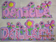 Nombres y Carteles - Fofuchas wOrLd - Picasa Web Albums Foam Crafts, Arts And Crafts, Bubble Letters, Tole Painting, Letter Art, Letters And Numbers, Ideas Para, Craft Projects, Sewing Patterns