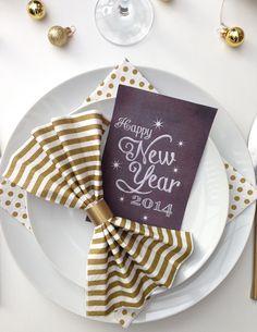 """Är du inte klar med din nyårsdukning? Missa inte att kika in i min kategori """"Dukningstips"""", här hittar du massa idéer för en fulländad nyårsfest!Foto: Karin Borg - Ellas Inspiration"""