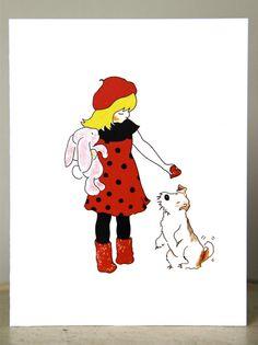 Valentine Card Balzac The Fox Terrier Gets A Heart di anitarivera, $15,00