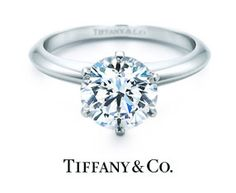 """""""Tiffany and Co. or the answer is no"""" j/k, this is a pretty ring tho!"""