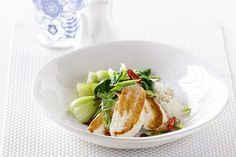 Poached Chicken with Sweet Soy, Chile & Shallots
