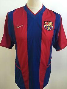 BARCELONA Home Football Shirt 2002 NIKE Size S Small | eBay