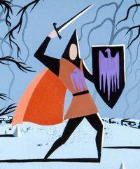 Animation Art:Concept Art, Eyvind Earle Sleeping Beauty Prince Phillip Concept Art(Walt Disney, 1959)....
