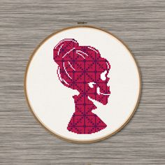 Lady Skull  PDF Cross Stitch Pattern